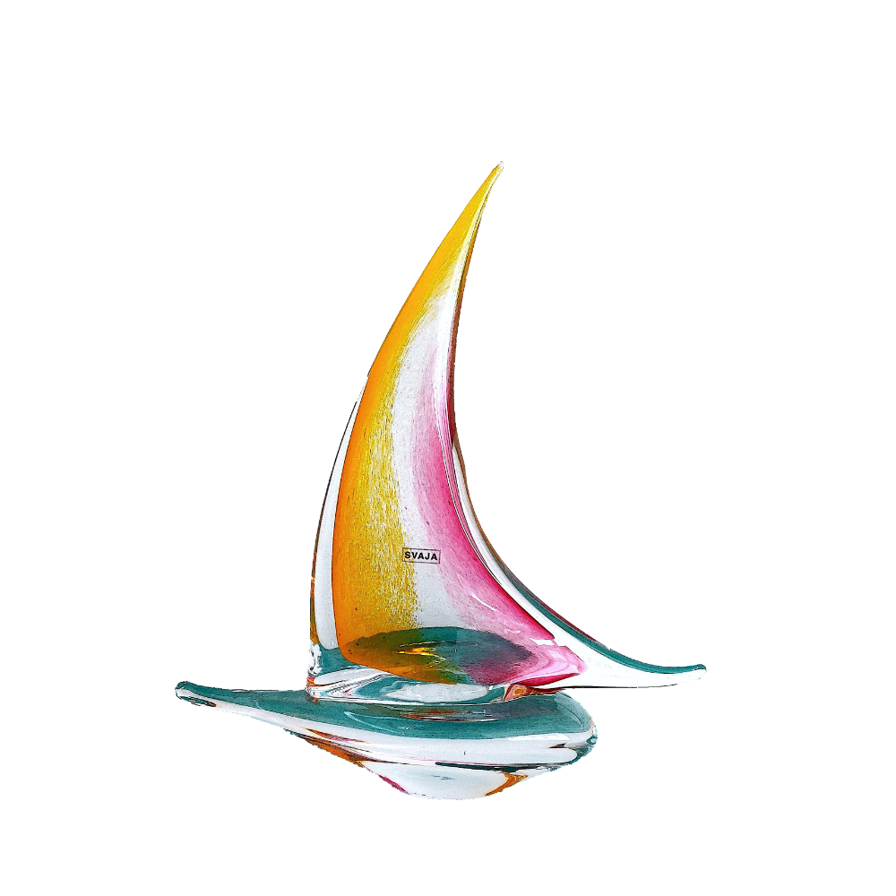 Handmade Glass - Dreamboat (Yacht) Amber Rose